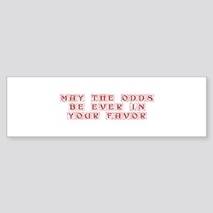 may-the-odds-kon-red Bumper Sticker