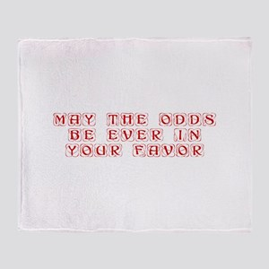 may-the-odds-kon-red Throw Blanket