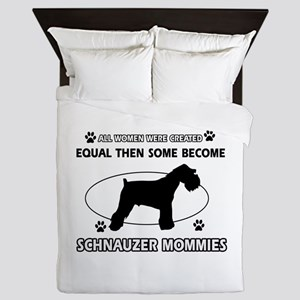 Become Schnauzer mommy designs Queen Duvet