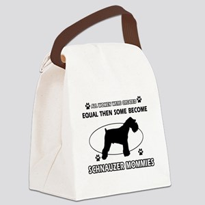 Become Schnauzer mommy designs Canvas Lunch Bag