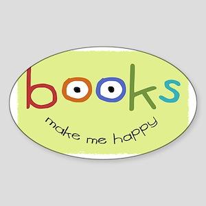 bookshappytote Sticker (Oval)