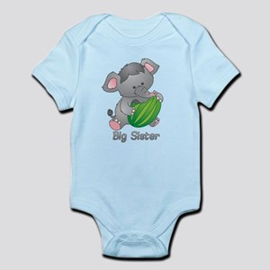 Big Sister Elephant Infant Bodysuit