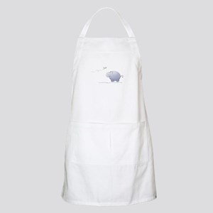 hippo and dragonfly BBQ Apron