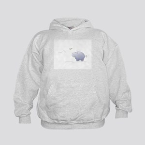 hippo and dragonfly Kids Hoodie