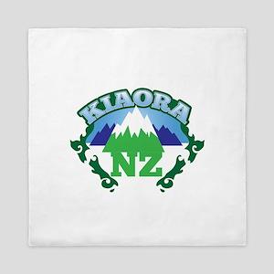 KIAORA greeting hello with mountains NEW ZEALAND Q