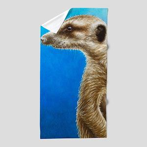 Alert Meerkat Beach Towel