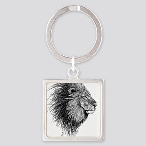 Lion (Black and White) Keychains
