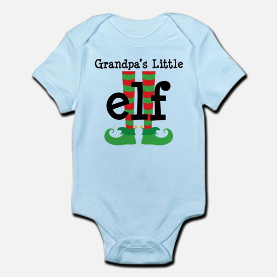 Grandpas Little Elf Christmas Body Suit