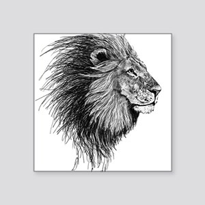 Lion (Black and White) Sticker