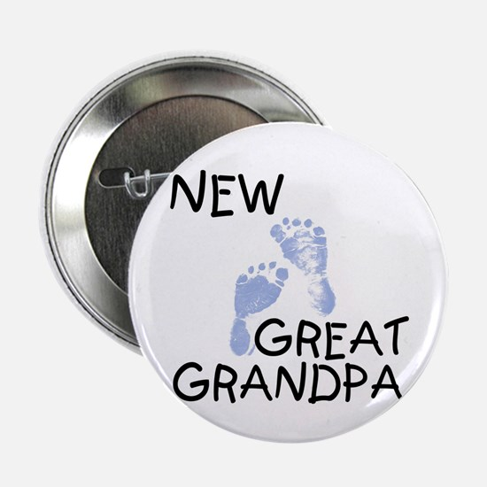 New Great Grandpa (blue) Button