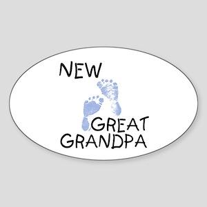 New Great Grandpa (blue) Oval Sticker