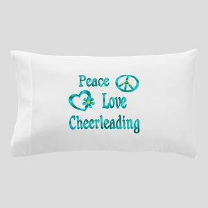 Peace Love Cheerleading Pillow Case