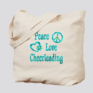 Peace Love Cheerleading Tote Bag