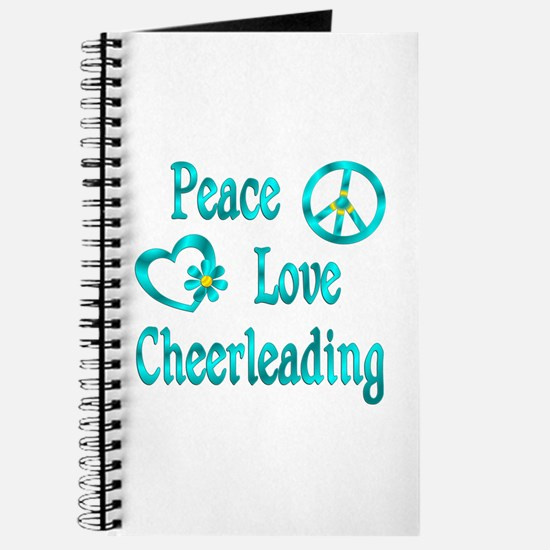 Peace Love Cheerleading Journal
