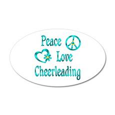 Peace Love Cheerleading Wall Decal