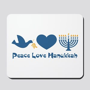 Peace Love Hanukkah Mousepad