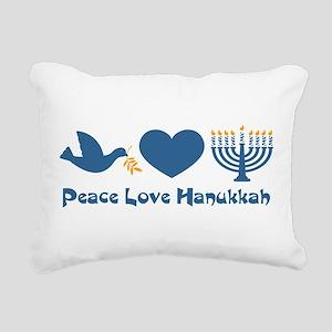 Peace Love Hanukkah Rectangular Canvas Pillow