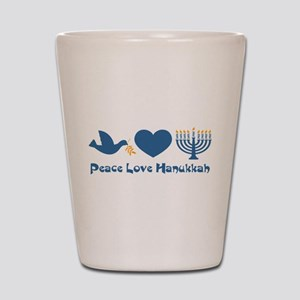 Peace Love Hanukkah Shot Glass