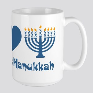 Peace Love Hanukkah Large Mug