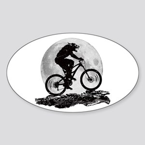 Howl at the Moon Sticker (Oval)