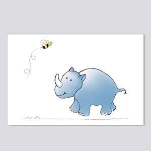 Rhino and Bee Postcards (Package of 8)