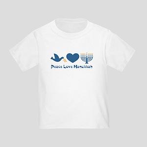 Peace Love Hanukkah Toddler T-Shirt