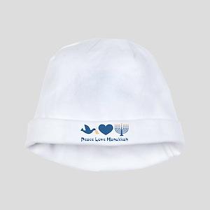 Peace Love Hanukkah baby hat