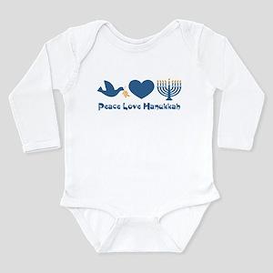 Peace Love Hanukkah Long Sleeve Infant Bodysuit