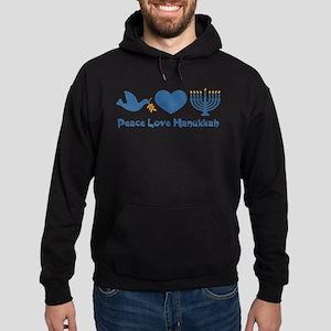 Peace Love Hanukkah Hoodie (dark)