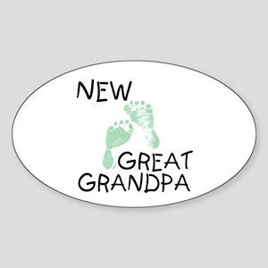 New Great Grandpa (green) Oval Sticker