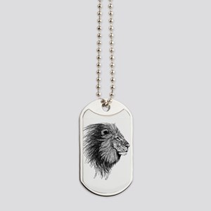 Lion (Black and White) Dog Tags