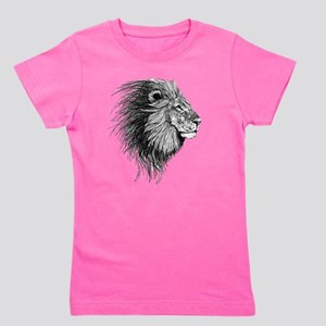 Lion (Black and White) Girl's Tee