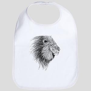 Lion (Black and White) Bib