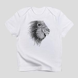 Lion (Black and White) Infant T-Shirt