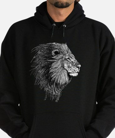 Lion (Black and White) Hoodie