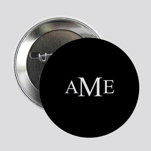 """Solid Black with Monograms 2.25"""" Button"""