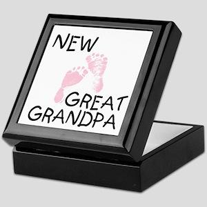 New Great Grandpa (pink) Keepsake Box