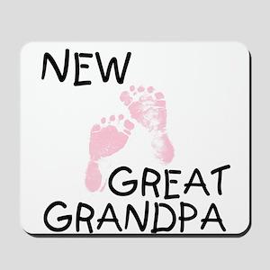 New Great Grandpa (pink) Mousepad