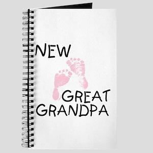 New Great Grandpa (pink) Journal