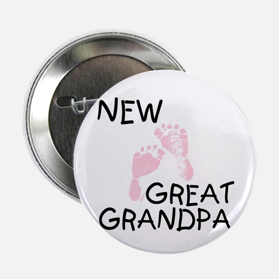 New Great Grandpa (pink) Button