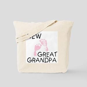 New Great Grandpa (pink) Tote Bag