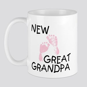 New Great Grandpa (pink) Mug