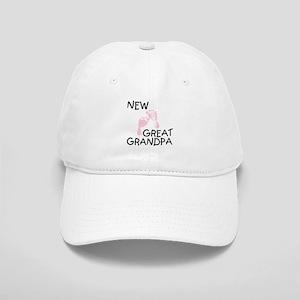 New Great Grandpa (pink) Cap