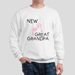 New Great Grandpa (pink) Sweatshirt