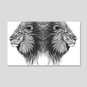 Twin Lion Wall Decal Sticker