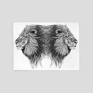 Twin Lion 5'x7'Area Rug