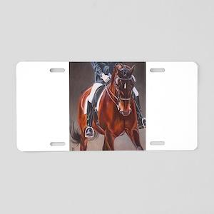 Dressage Intensity Aluminum License Plate