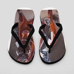 4bc238f09ff352 Equine Flip Flops - CafePress