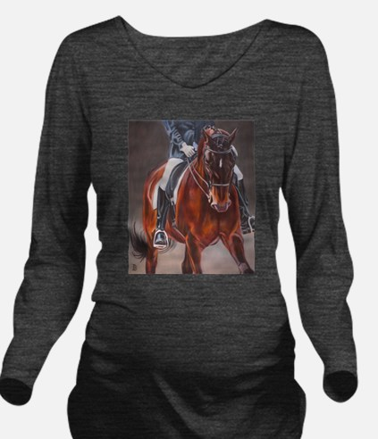 Dressage Intensity Long Sleeve Maternity T-Shirt
