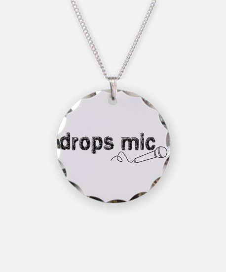 Drops Mic Comedy Necklace